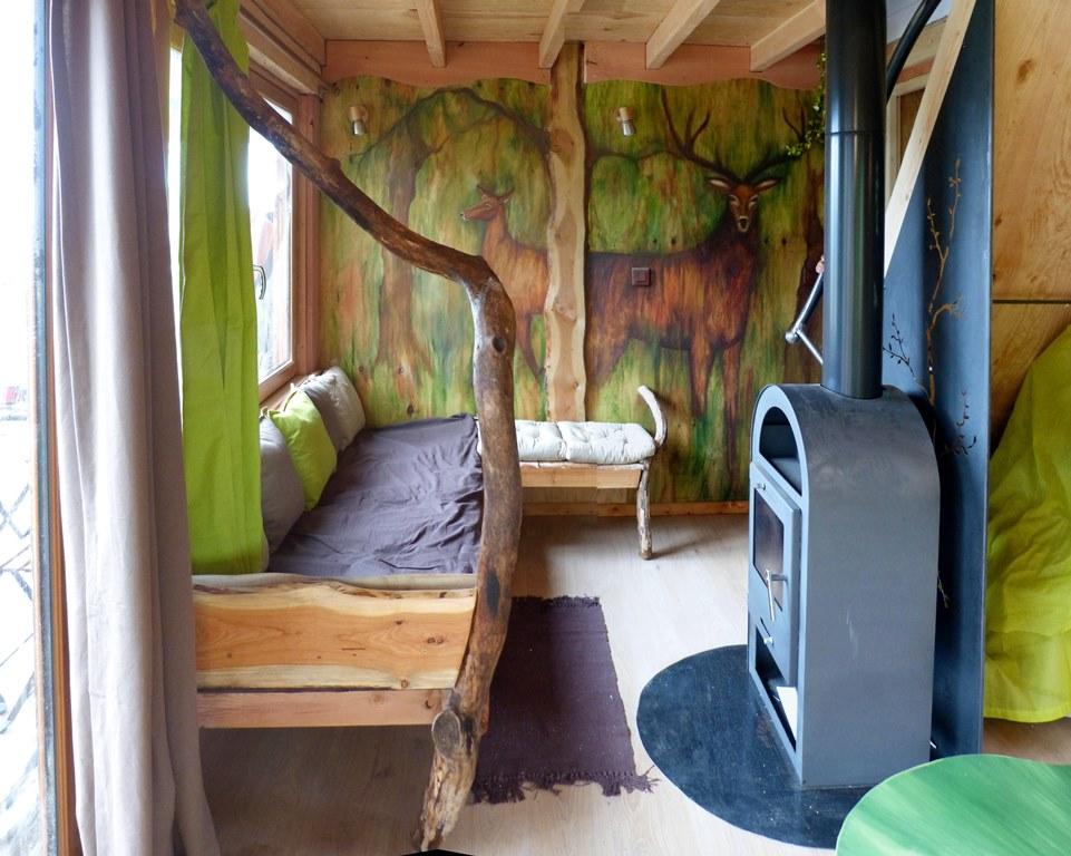 Cabane dans les arbres : le coin salon