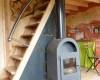 Cabane dans les arbres : escaliers vers les chambres